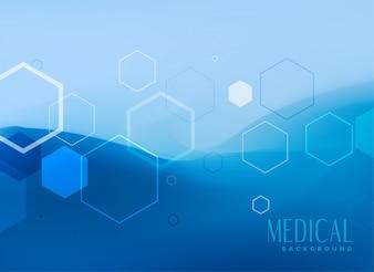 Medical background concept design in blue color