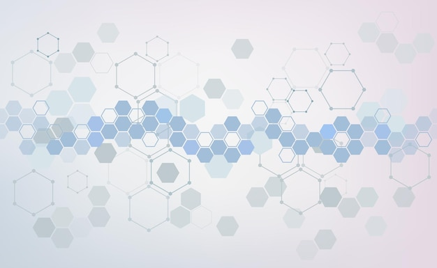 医学的背景。ヘルスケアパターン、医療技術革新コンセプトバナー。