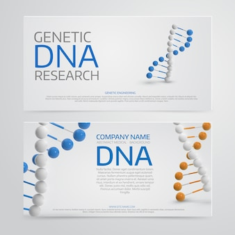 Medical background with  3d dna molecule