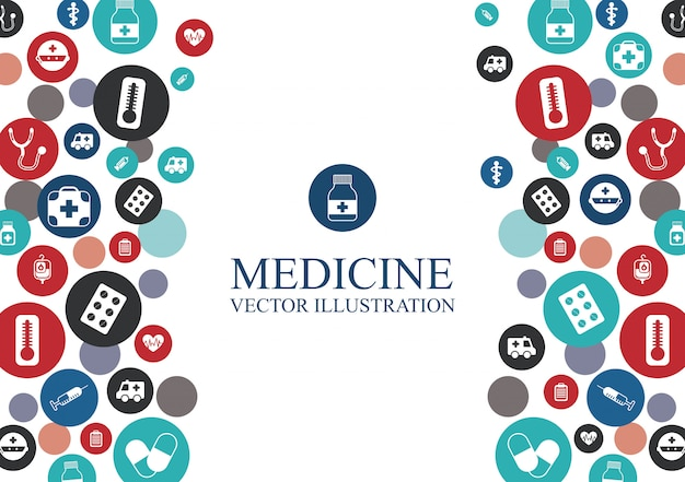 Medical background with elements graphic design