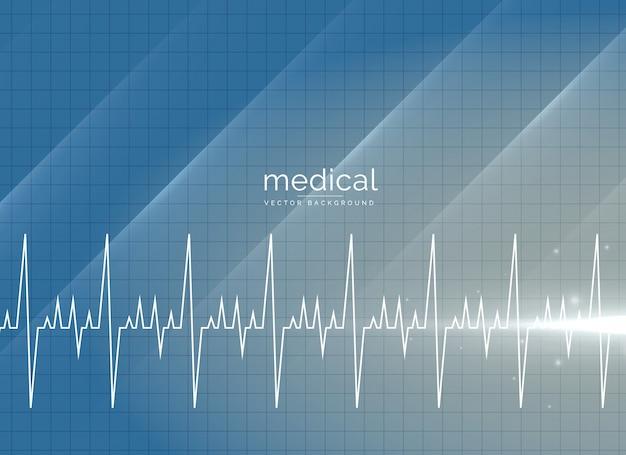 Медицинский векторный фон с сердцебиением Premium векторы