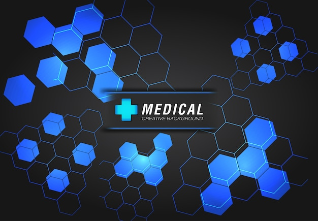 Medical background with modern design in blue color