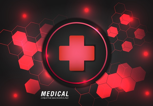 Medical background with modern design in red color