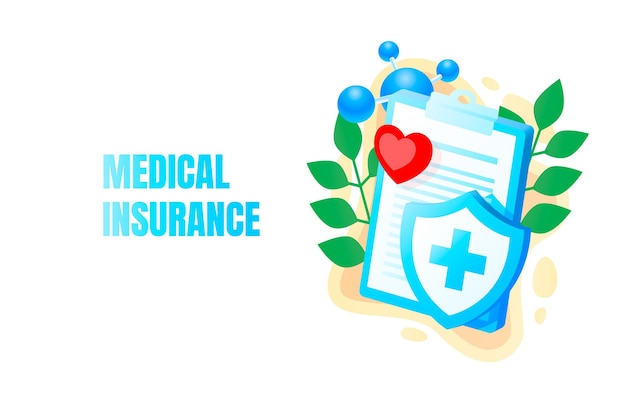 의료 배너, 건강 보험, 생물학 해부학 기관, 서비스 도움말
