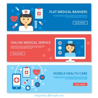 Medical banners collection