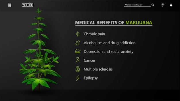 Medical benefits of marijuana, black website