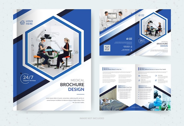 Medical bi fold brochure template