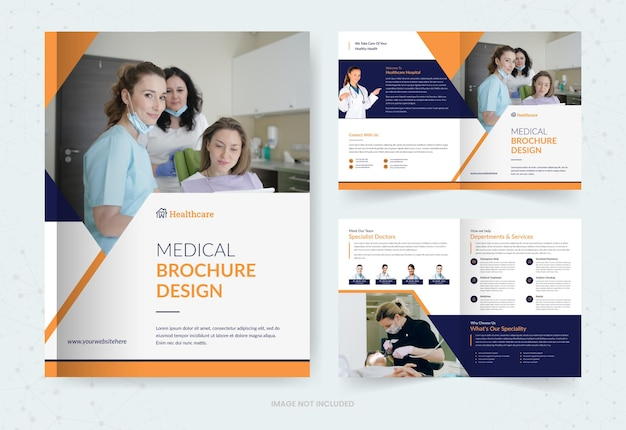 Medical bifold brochure template