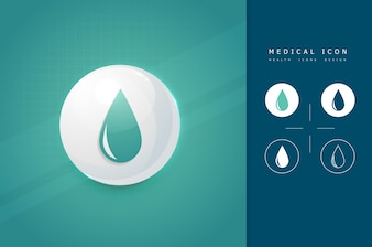 Medical blood icon