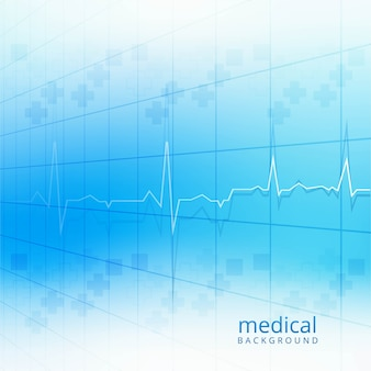 Medical blue background vector illustration