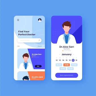 Medical booking app concept