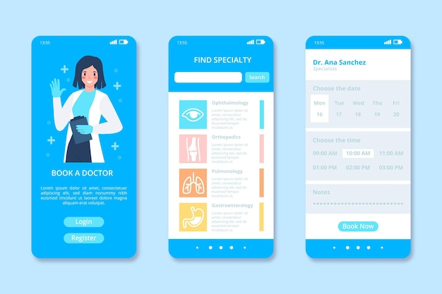Medical booking app template