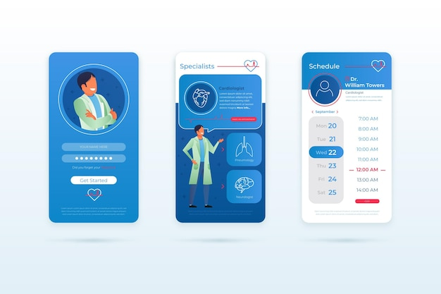 Medical booking app template