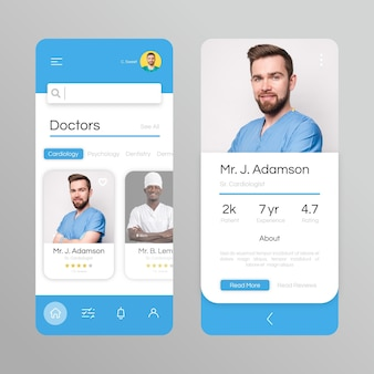 Medical booking app with photo