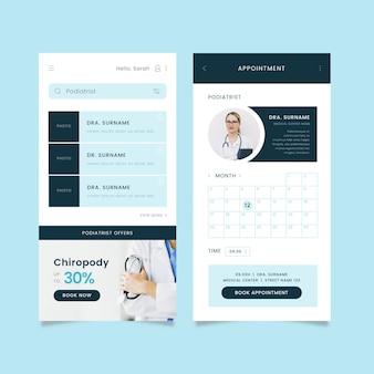 App di prenotazione medica con foto