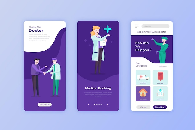仮想医師とクライアントを備えた医療予約アプリ