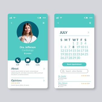 Medical booking application template
