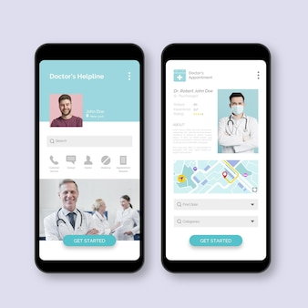 Medical booking application with photo