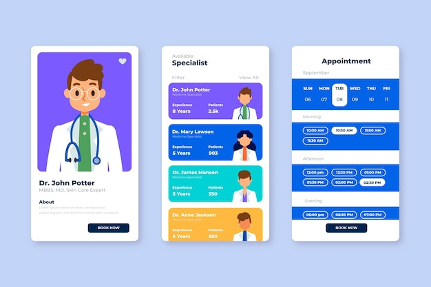 Medical booking application