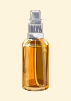 Medical brown glass sprayer