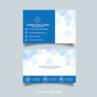 Medical business card concept in flat style