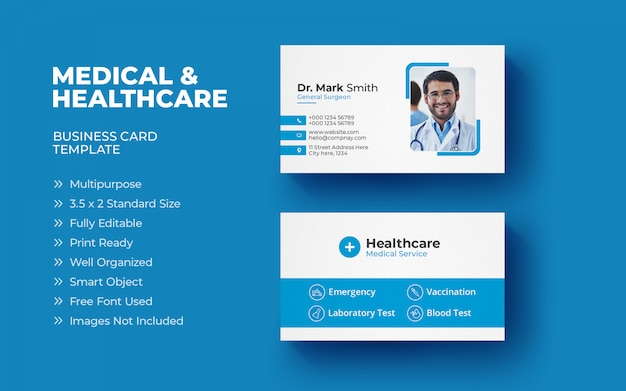 Medical business card template