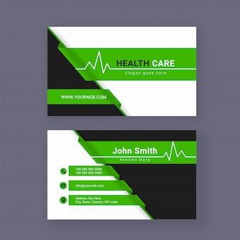 Medical business card or visiting card with details
