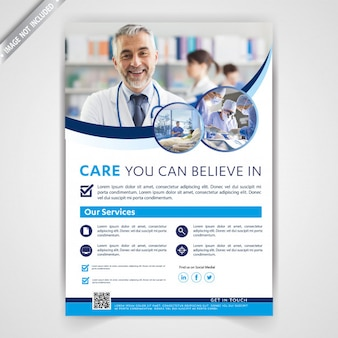 Medical business flyer template