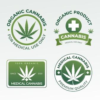 Collezione di badge di cannabis medica
