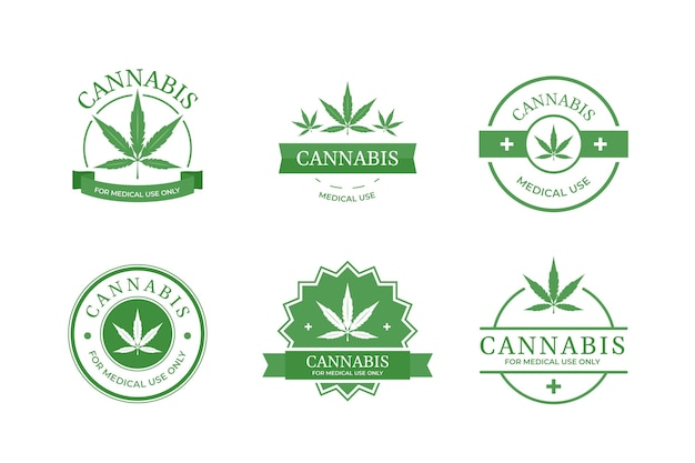 Medical cannabis badges collection