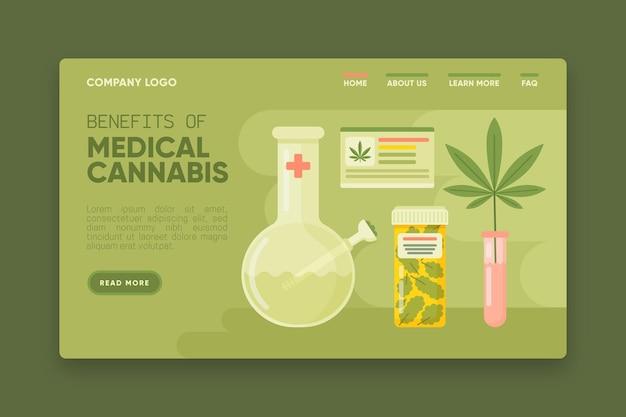 医療大麻の利点のwebテンプレート