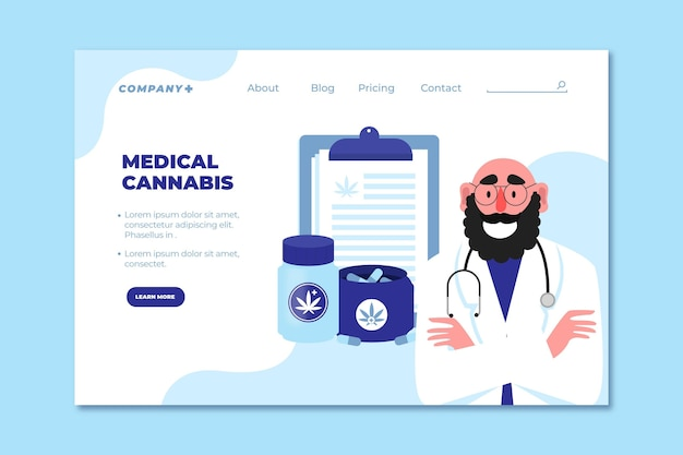 Medical cannabis and doctor landing page