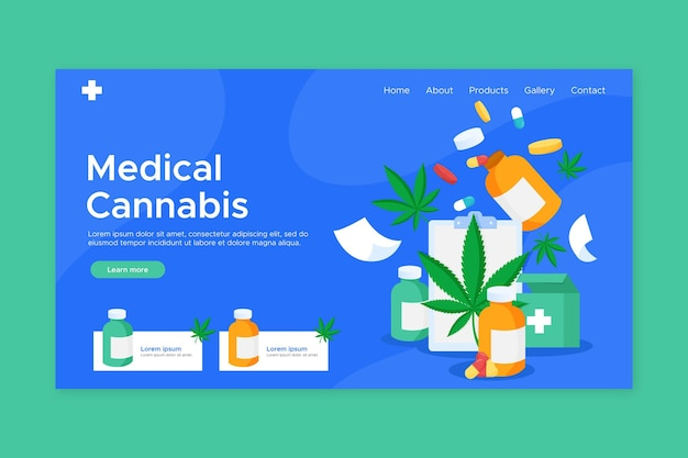 Medical cannabis drug landing page