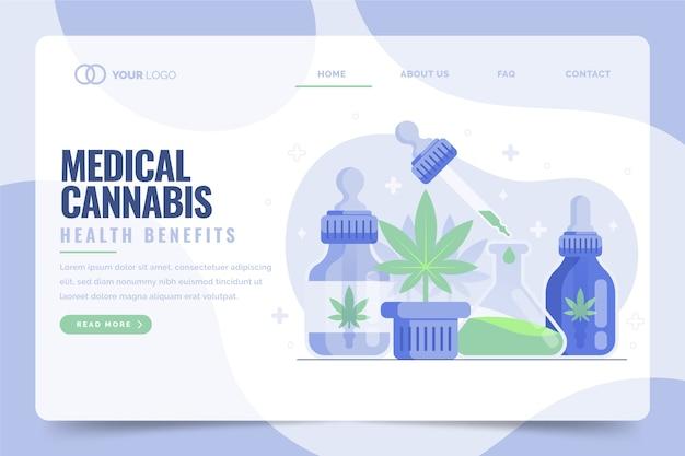 医療大麻の健康上の利点のランディングページ