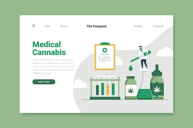 Medical cannabis landing page template