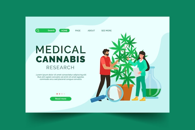 Medical cannabis landing page