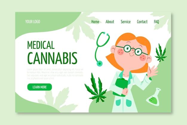 Медицинский каннабис - целевая страница