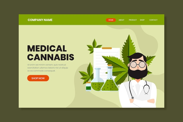 Medical cannabis - landing page