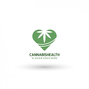 Medical cannabis logo template