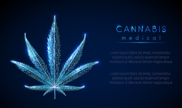 Medical cannabis. marihuana leaf.