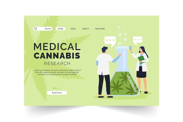 医療大麻研究のランディングページ