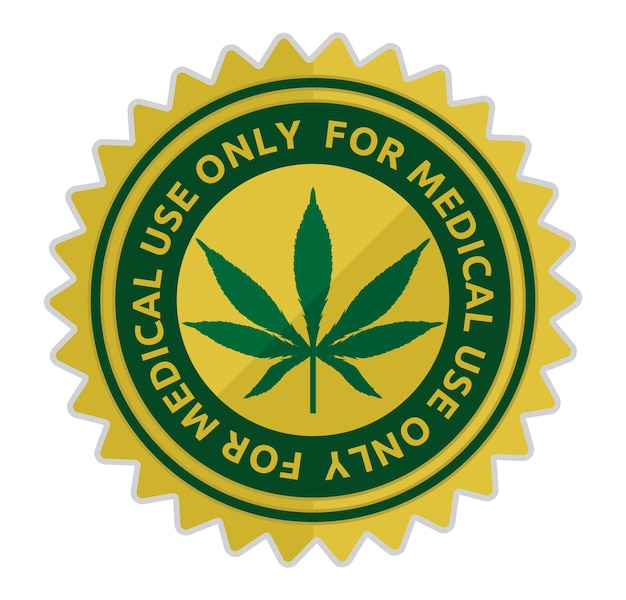 Medical cannabis vector illustration