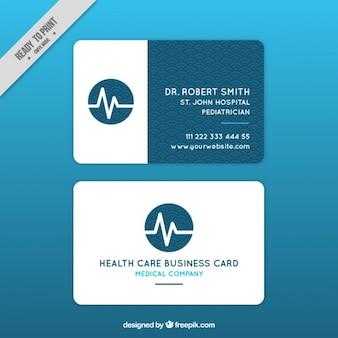 Medical card with cardiogram