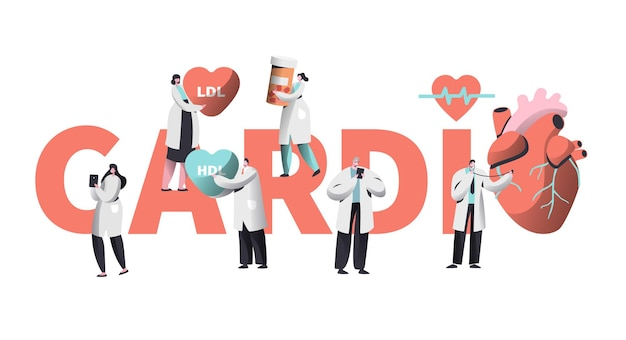 Medical cardiology worker care heart health concept