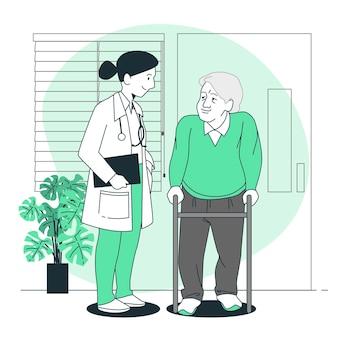 Illustrazione di concetto di cure mediche