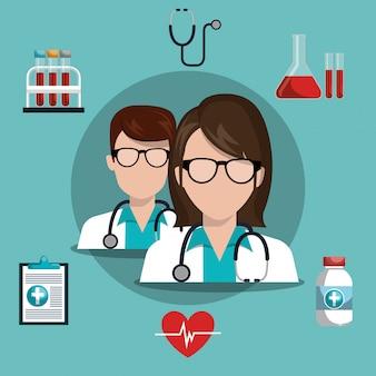 Progettazione di cure mediche Vettore gratuito