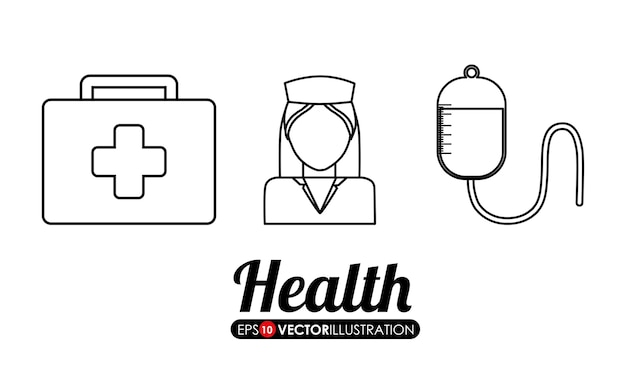 Medical care related icons