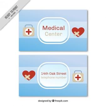 Medical center card Free Vector