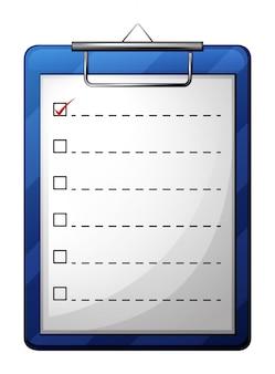 A medical chart