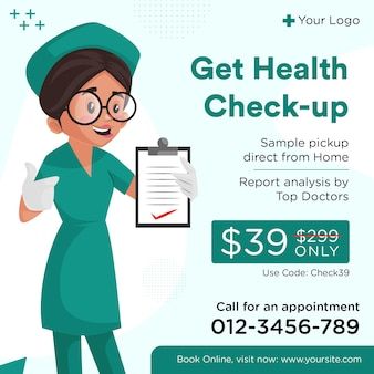 Medical check-up and healthcare social media post template